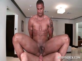 Gay masseur gets straight butt fucked