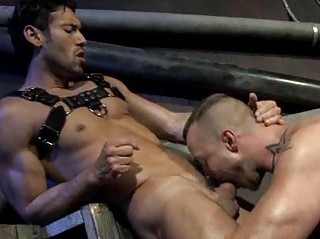 Handsome Muscled Men Rough Rimming And Fucking
