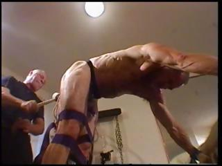 Dude is tied up together about bent over about his master abusing his irritant