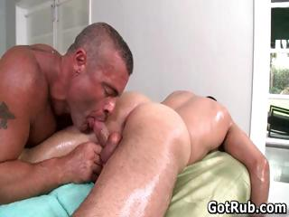 Hot guy succeed in his amazing body massaged part6