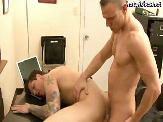 Tatoo joyous sucking a cock and gets his asshole drilled