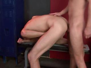 Two delighted studs have some hot hard butt fucking going in eradicate affect bay room