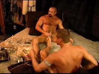 Four gay dudes experiment with along to cock pump and end roughly with long dongs