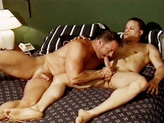 Gym studs suck each others hard cocks before fucking in burnish apply locker...