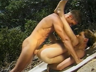 Angry sex jocks sucking each others hard cocks while on a picnic in...