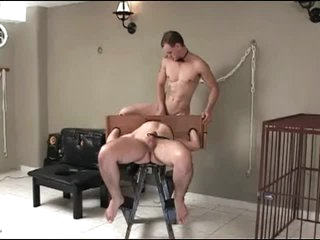 Collared and bound bottom fucked anally