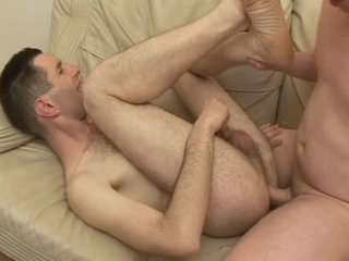 Hairy guy laid all over his tight asshole