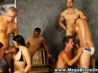 Naff bisex group orgy