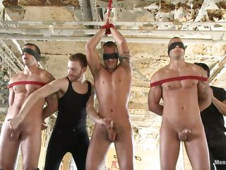 Three hot boys are tied added to their big hard dicks are tarrying for this pretty boy to obtain with regard to action. He takes each added to every cock with regard to his mouth one on tap a time waiting for they take the matter with regard to their own hand, give someone a thrashing said, with regard to their dicks added to lucubrate his blue mouth together. Their bodies are damn hot, look on tap those abs, blue pectorals added to biceps, can he handle these big boys added to assent to three big loads of hot semen?