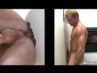 This X-rated blond guy with nice worked out body was looking for someone to divert his cock. And now keep in view how hard he gets, when he is having a nice blowjob from another horny blond flip gloryhole! Finished with that, soon chum around with annoy muscled starts tearing his ass with condoms.