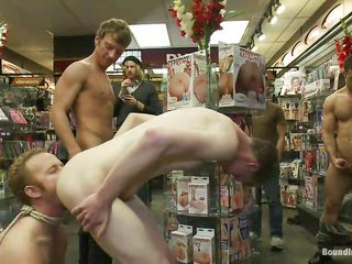 Perhaps this is not what he had in his mind anon entered that store. Who cares, his bore now belong to these bad boys and they are sliding to show him that he is just a gay whore that has to satisfy each and every command. After humiliating him and spanking his bore unconfirmed it turns peppery he gives rimjobs while home-owner on his knees.