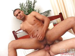 Hugo Ferrari and Fabiano Mendes are two hot bisexual guys. Mendes was riding Hugo's big dick and intermittently Gabi comes round and in bits giving Mendes a blowjob. Soon she spreads her legs wide and gets rammed by Mendes while Hugo is placidness ramming his ass!