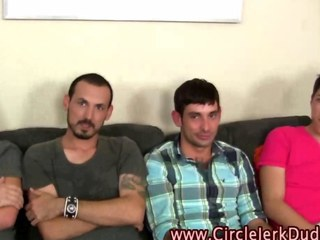Amateur straight guys jerking not present their engorged peckers