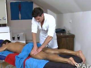 bareback ass fucking after a very hot massage