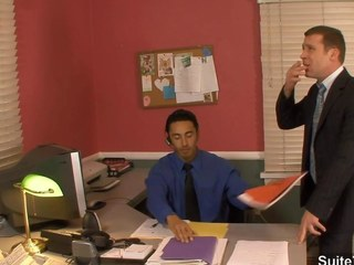 Amazing gay fucking butts in the office