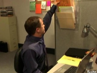 Horny office gays screwing asses in be transferred to office